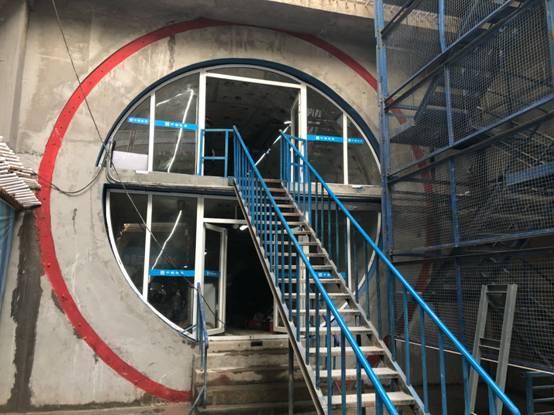 沈阳市地下综合管廊南运河段转子间建成行车电机样板图片